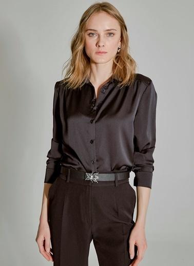People By Fabrika Pili Detaylı Gömlek Siyah